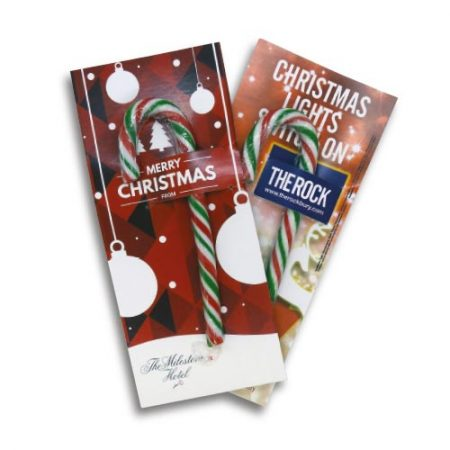 branded Candy Cane Cards