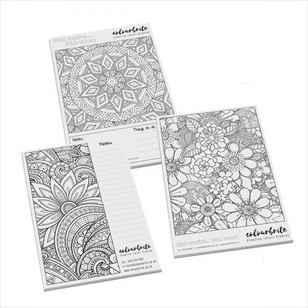 branded Smart-pad A5 colour me in